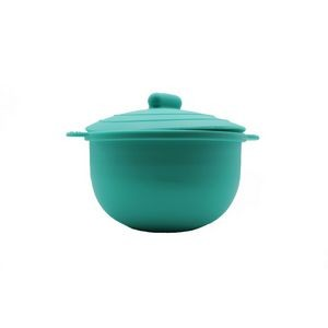 Collapsible Silicone Bowl with Lid for Kid