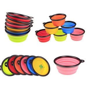 Foldable Silicone Pet Bowl Or Collapsible Dog Bowl